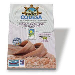 Anchoa filete cantábrico aceite ecológico curadas con sal rosa del Himalaya Codesa