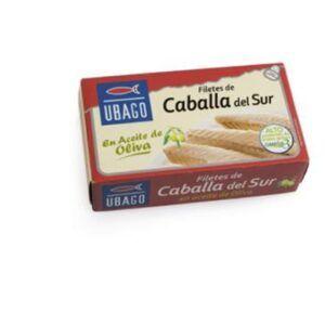 Caballa filete sur aceite de oliva Ubago 125g