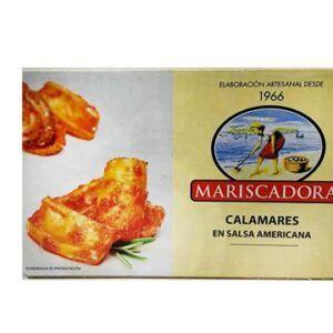 Calamares en salsa americana lata en aceite de girasol