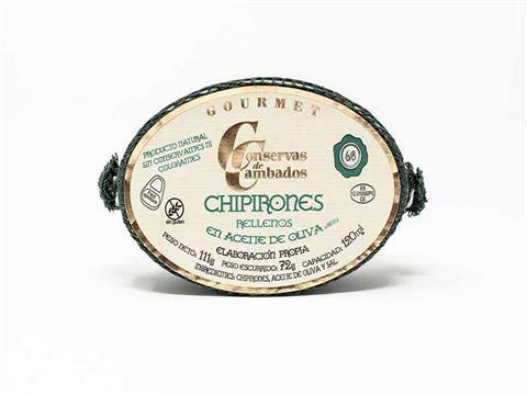 Chipirones rellenos en aceite de oliva Gourmet lata