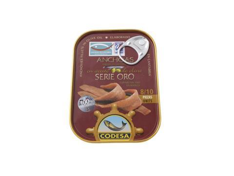 Filete de anchoa Codesa Serie Oro 90g 12 a 14 piezas