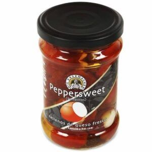 Pimientos rojos con queso fresco 240g