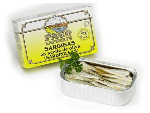 Sardinillas en aceite de oliva Paco