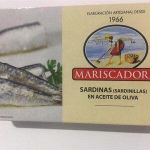 Sardinillas en aceite de oliva Mariscadora