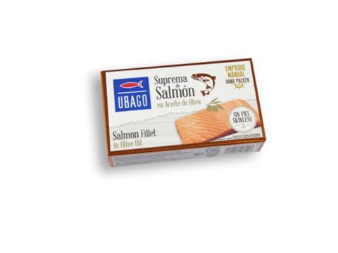 Suprema de salmón aceite de oliva Ubago 125g