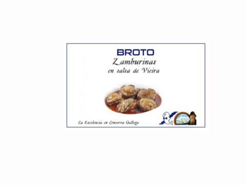 Zamburiñas en salsa Vieira Broto