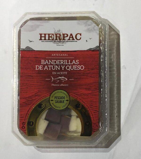 Banderillas atún y queso Herpac
