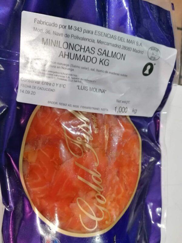 recortes de salmón goldfish 1kg